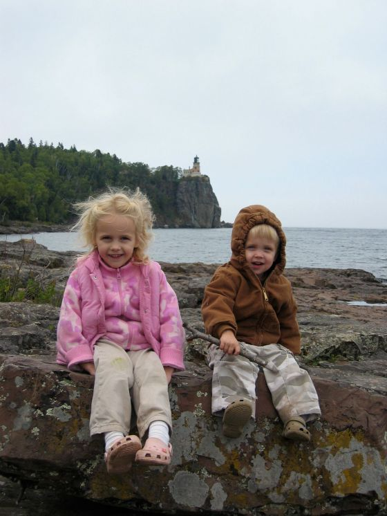 Eliza and Seth, Split Rock Lighthouse